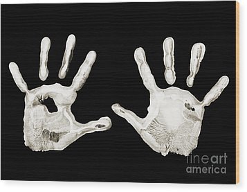 Five Years Old - Creative - Hands - First Painting Wood Print by Andee Design