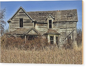 Fixer Upper Wood Print by Ron Roberts