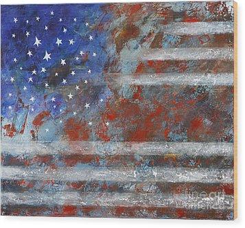 Flag 2012 Wood Print by Eva Hoffmann