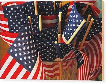Flag Bouquet Wood Print by Mamie Gunning