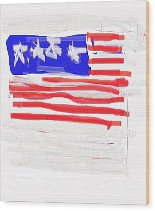 Flag Wood Print by Jay Manne-Crusoe