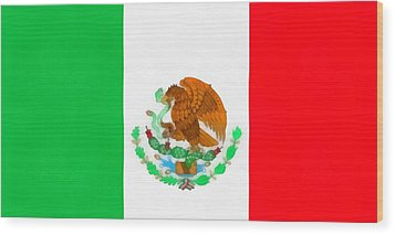 Flag Of Mexico Wood Print by Dan Sproul