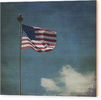 Flag - Still Standing Proud - Luther Fine Art Wood Print