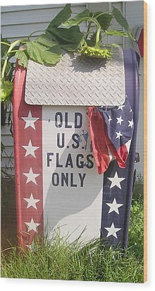 Flags Only Wood Print