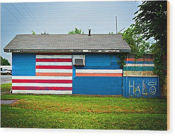 Flag Wall Wood Print