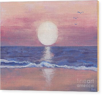Flagler Beach Dream Wood Print by Roz Abellera Art