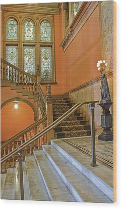 Flagler College Entryway Wood Print by Rich Franco