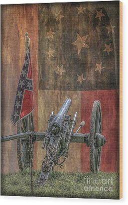 Flags Of The Confederacy Wood Print by Randy Steele