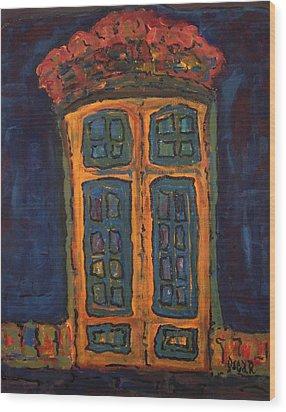 Flamboyant Door Wood Print by Oscar Penalber
