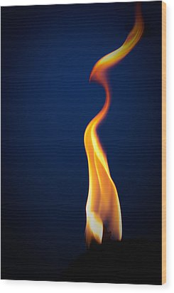 Flame Wood Print by Darryl Dalton