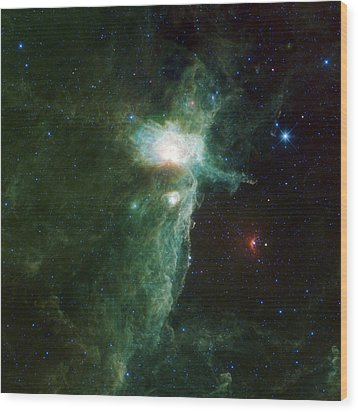 Flame Nebula Wood Print by Adam Romanowicz