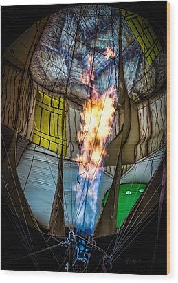 Flame On Wood Print by Bob Orsillo