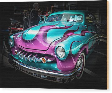 Flame On Wood Print by Ronda Broatch