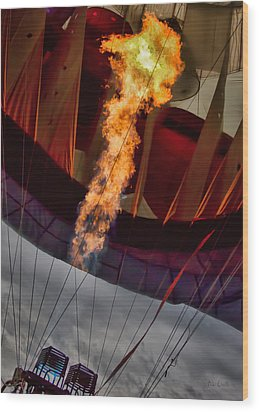Flame On Two Wood Print by Bob Orsillo
