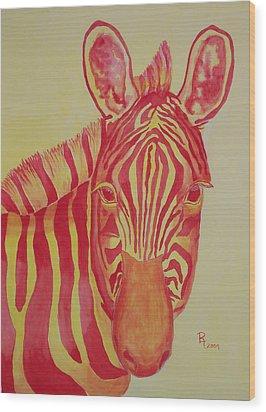 Flame Wood Print by Rhonda Leonard
