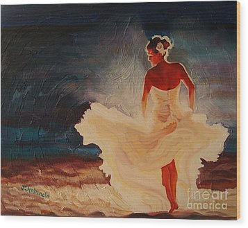 Flamenco Allure Wood Print by Janet McDonald