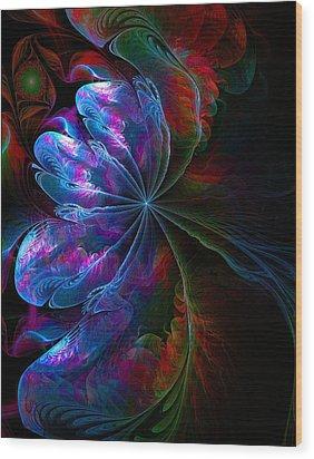 Flamenco Wood Print by Amanda Moore