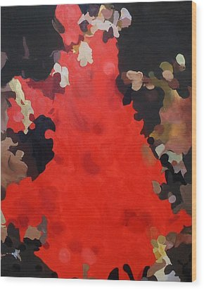 Wood Print featuring the painting Flamenco by Cherise Foster
