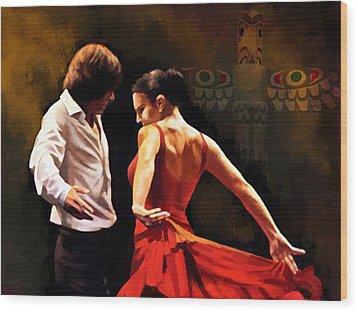 Flamenco Dancer 012 Wood Print by Catf