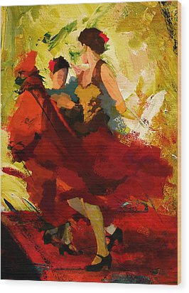 Flamenco Dancer 019 Wood Print