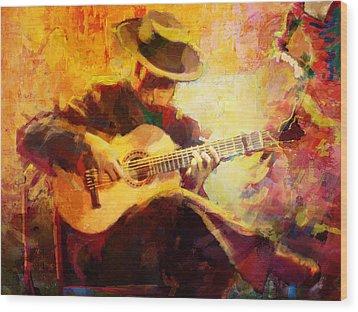 Flamenco Dancer 028 Wood Print by Catf