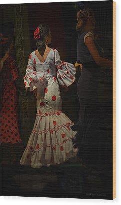 Flamenco Dancer #14 Wood Print by Mary Machare