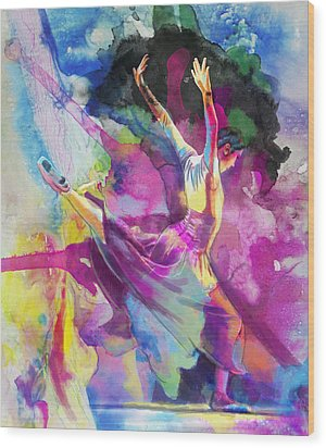 Flamenco Dancer Wood Print by Catf