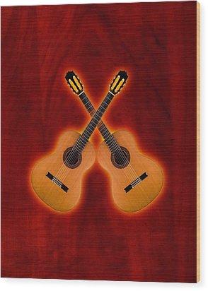 Flamenco  Guitar  Wood Print by Doron Mafdoos