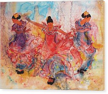 Flamenco Wood Print by John YATO