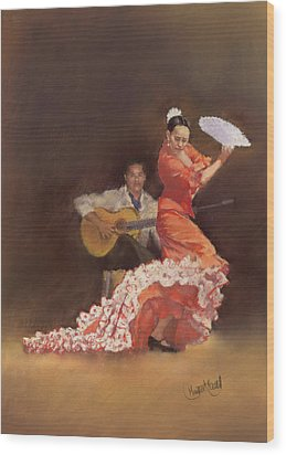 Flamenco Wood Print by Margaret Merry