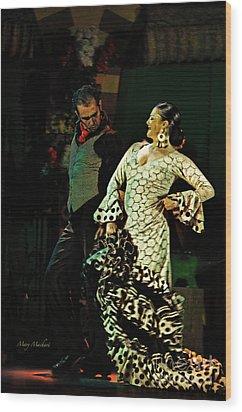 Flamenco Series No 11 Wood Print by Mary Machare
