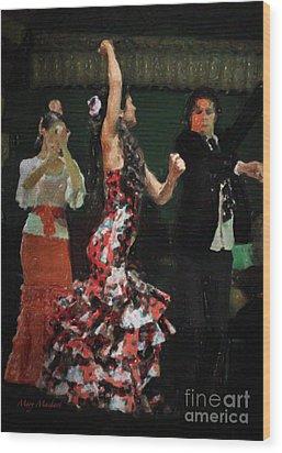 Flamenco Series No 13 Wood Print by Mary Machare