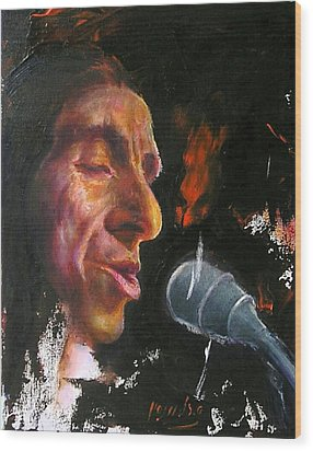 Flamenco Singer 1 Wood Print