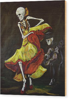Flamenco Vi Wood Print by Sharon Sieben
