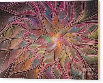 Flames Of Happiness Wood Print by Deborah Benoit