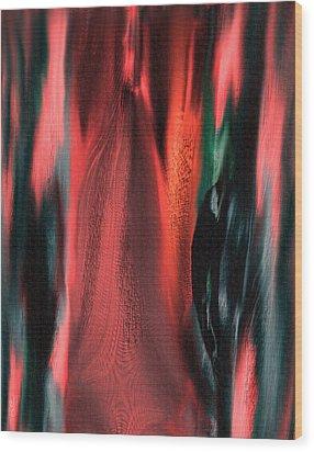 Flames Wood Print by Yul Olaivar