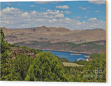 Wood Print featuring the photograph Flaming Gorge by Janice Rae Pariza