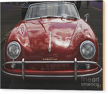 Wood Print featuring the photograph Flaming Red Porsche by Victoria Harrington