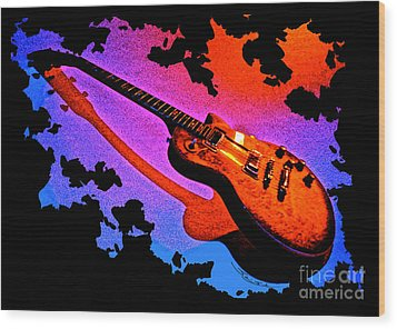 Flaming Rock Wood Print