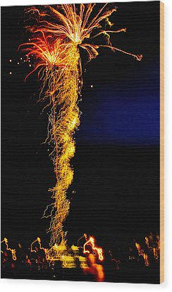 Flaming Tornado Wood Print by Brian Gibson