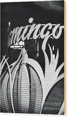 Flamingo Las Vegas Wood Print by John Rizzuto