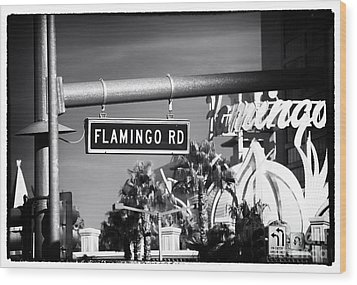 Flamingo Road Wood Print by John Rizzuto