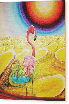 Flamingo Wood Print by Viktor Lazarev