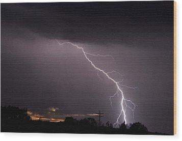 Flash In The Night Three Wood Print