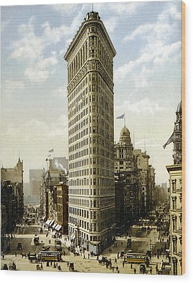 Flat Iron Building New York 1903 Wood Print by Unknown