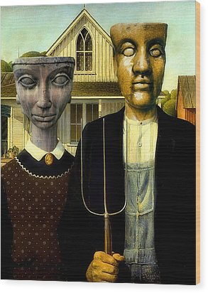 Flat Top Gothic Wood Print by James Stough