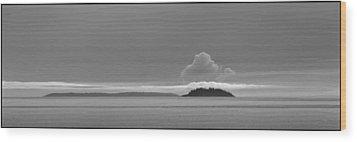 Flat Top Island Bw Wood Print