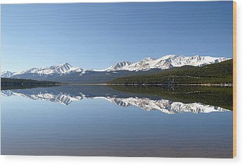 Flat Water Wood Print by Jeremy Rhoades