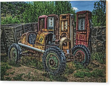 Wood Print featuring the photograph Flathead Ford Racer by Ken Smith