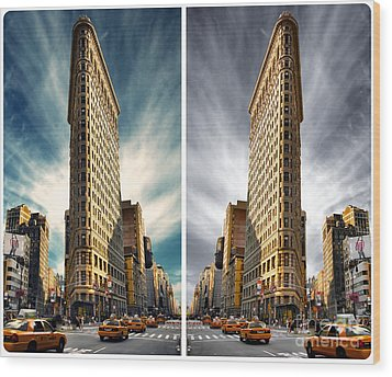 Flatiron Building  Wood Print by AHcreatrix